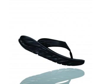 Hoka Ora Recovery Flip - כפכפי אצבע לנשים אורה הוקה איכותיים בצבע שחור