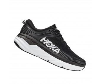 Hoka Bondi 7 Wide - נעלי ספורט נשים הוקה בונדי 7 רחבות בצבע שחור/לבן