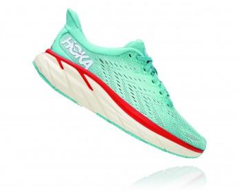 Hoka Clifton 8 - נעלי ספורט נשים הוקה קליפטון 8 בצבע תכלת אקווה/כתום