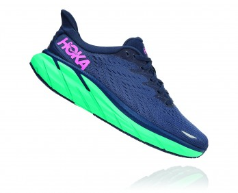 Hoka Clifton 8 Wide - נעלי ספורט נשים הוקה קליפטון 8 רחבות בצבע כחול/טורקיז
