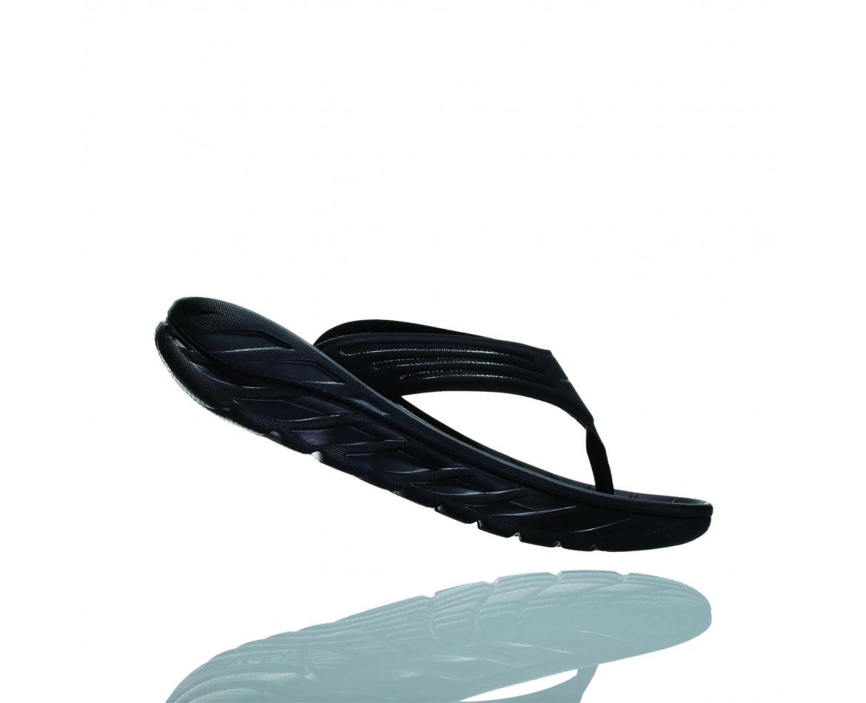Hoka Ora Recovery Flip - כפכפי אצבע לנשים אורה הוקה איכותיים בצבע שחור #3