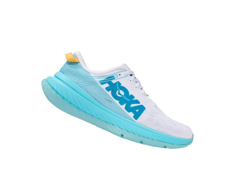 Hoka Carbon X - נעלי ספורט נשים הוקה קרבון איקס בצבע לבן/כחול #3