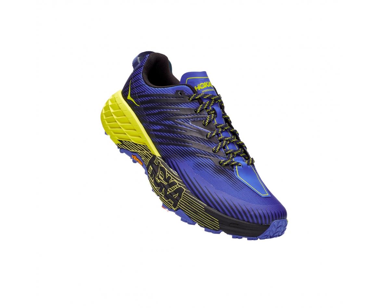 Hoka Speedgoat 4 Wide -נעלי ספורט גברים הוקה ספידגוט 4 רחבות בצבע סגול/שחור/צהוב #1
