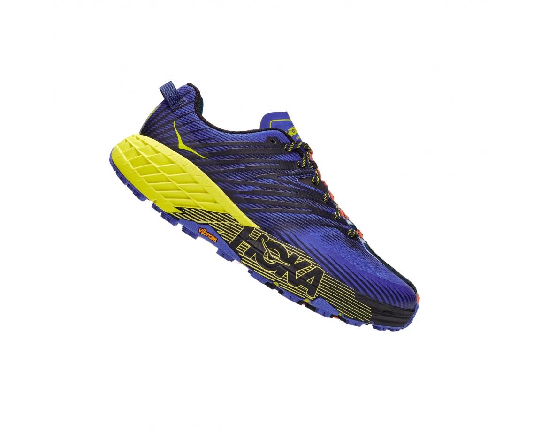 Hoka Speedgoat 4 Wide -נעלי ספורט גברים הוקה ספידגוט 4 רחבות בצבע סגול/שחור/צהוב #3
