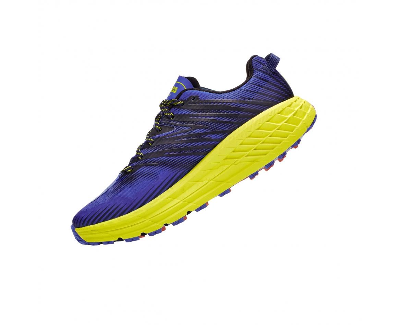 Hoka Speedgoat 4 Wide -נעלי ספורט גברים הוקה ספידגוט 4 רחבות בצבע סגול/שחור/צהוב #4