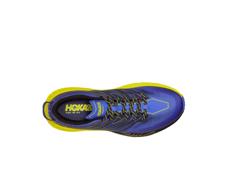 Hoka Speedgoat 4 Wide -נעלי ספורט גברים הוקה ספידגוט 4 רחבות בצבע סגול/שחור/צהוב #6