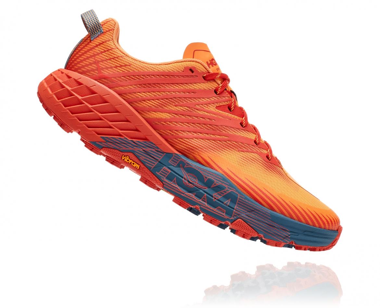 Hoka Speedgoat 4 - נעלי ספורט גברים הוקה ספידגוט 4 בצבע פיאסטה/כתום #3