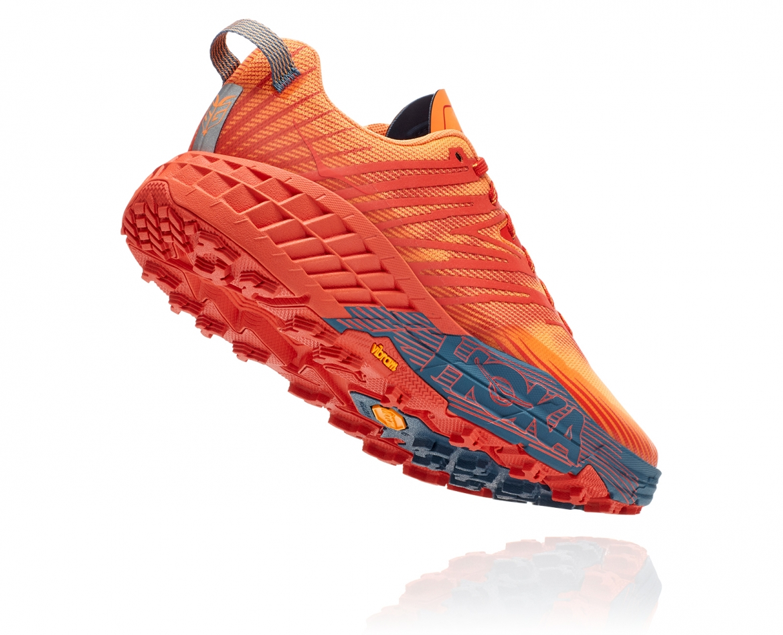 Hoka Speedgoat 4 - נעלי ספורט גברים הוקה ספידגוט 4 בצבע פיאסטה/כתום #2