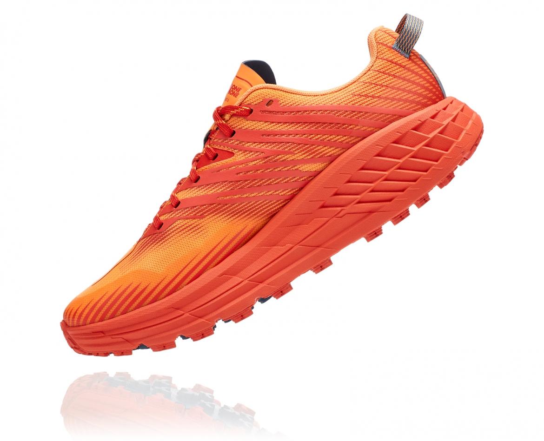 Hoka Speedgoat 4 - נעלי ספורט גברים הוקה ספידגוט 4 בצבע פיאסטה/כתום #4