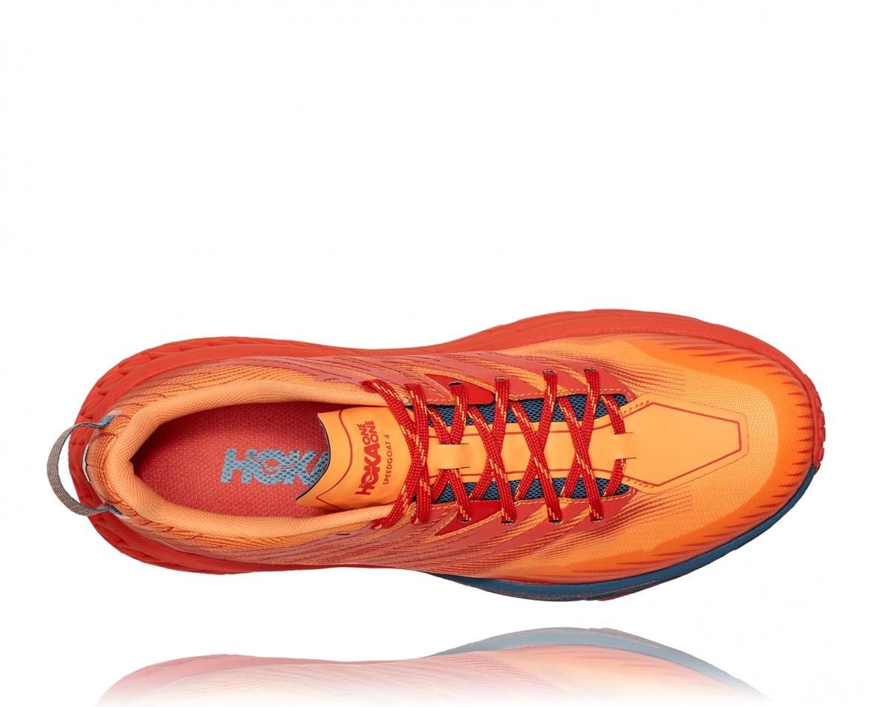 Hoka Speedgoat 4 - נעלי ספורט גברים הוקה ספידגוט 4 בצבע פיאסטה/כתום #5