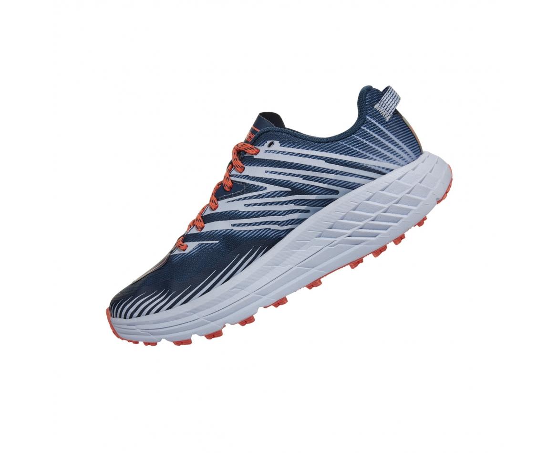 Hoka Speedgoat 4 Wide - נעלי ספורט הוקה ספידגוט רחבות לנשים בצבע כחול/כתום/אפור #4