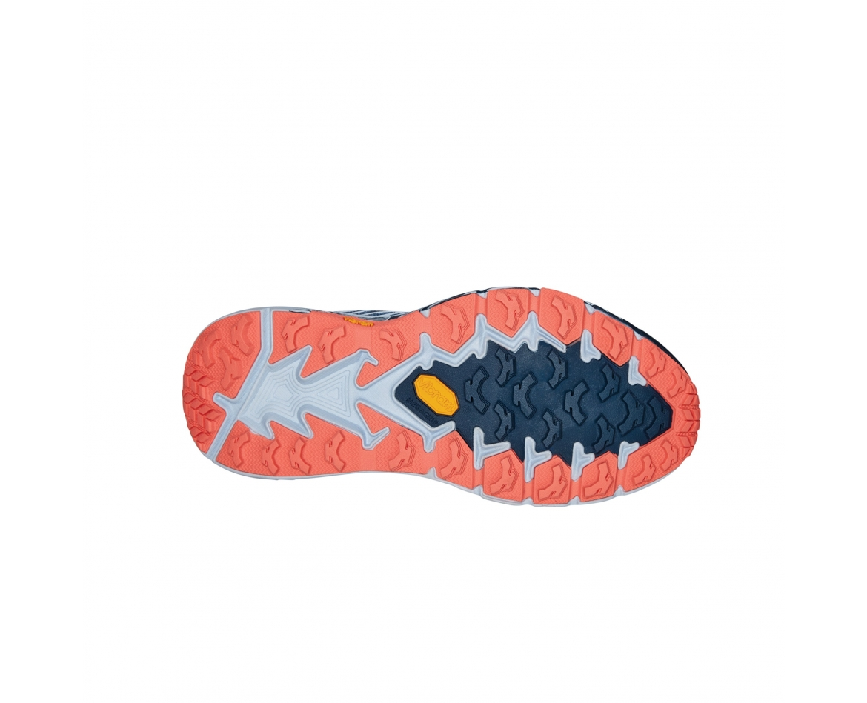 Hoka Speedgoat 4 Wide - נעלי ספורט הוקה ספידגוט רחבות לנשים בצבע כחול/כתום/אפור #5