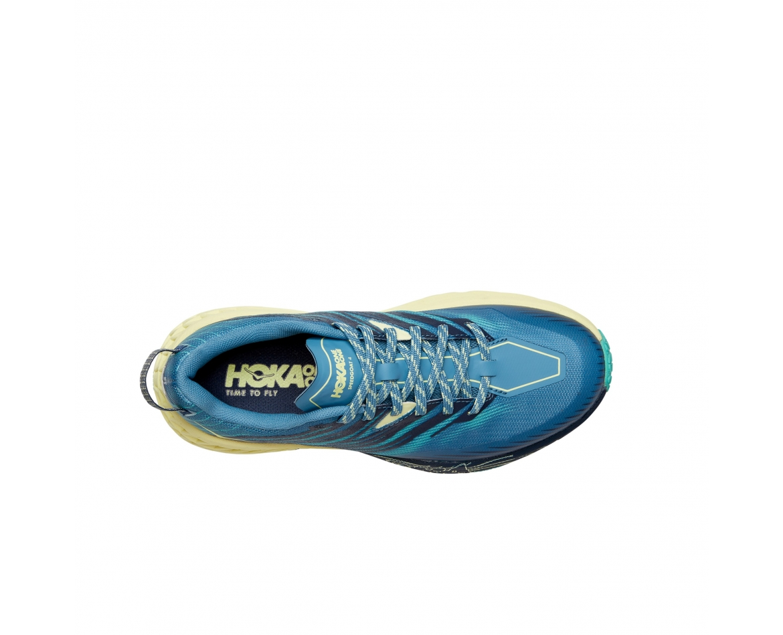 Hoka Speedgoat 4 Wide -נעלי ספורט נשים הוקה ספידגוט רחבות בצבע כחול/ירוק/צהוב #6