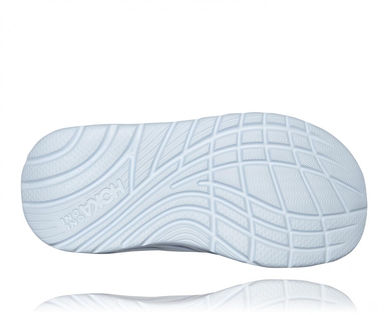 Hoka Ora Recovery - כפכפי סלייד נשים אורה הוקה בצבע תכלת/לבן #6