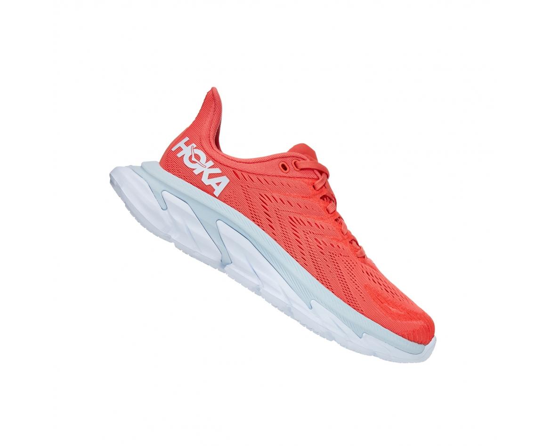 Hoka Clifton Edge  - נעלי ספורט נשים קליפטון אדג' בצבע כתום/לבן #3