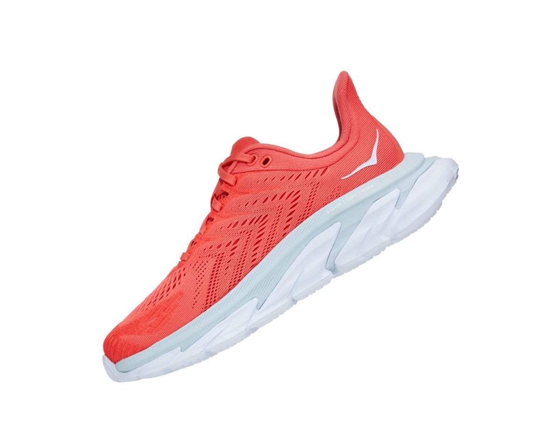 Hoka Clifton Edge  - נעלי ספורט נשים קליפטון אדג' בצבע כתום/לבן #4