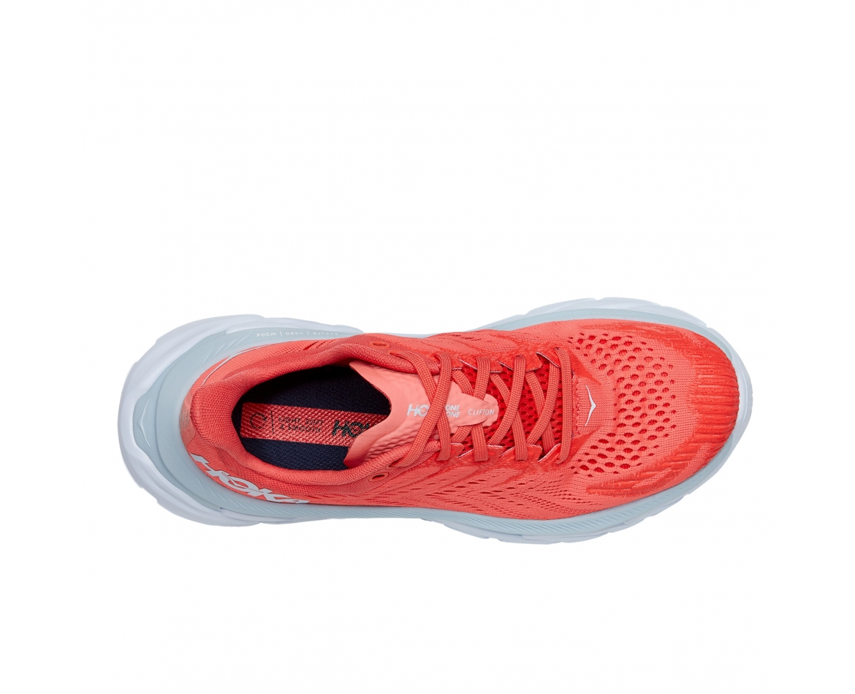 Hoka Clifton Edge  - נעלי ספורט נשים קליפטון אדג' בצבע כתום/לבן #6