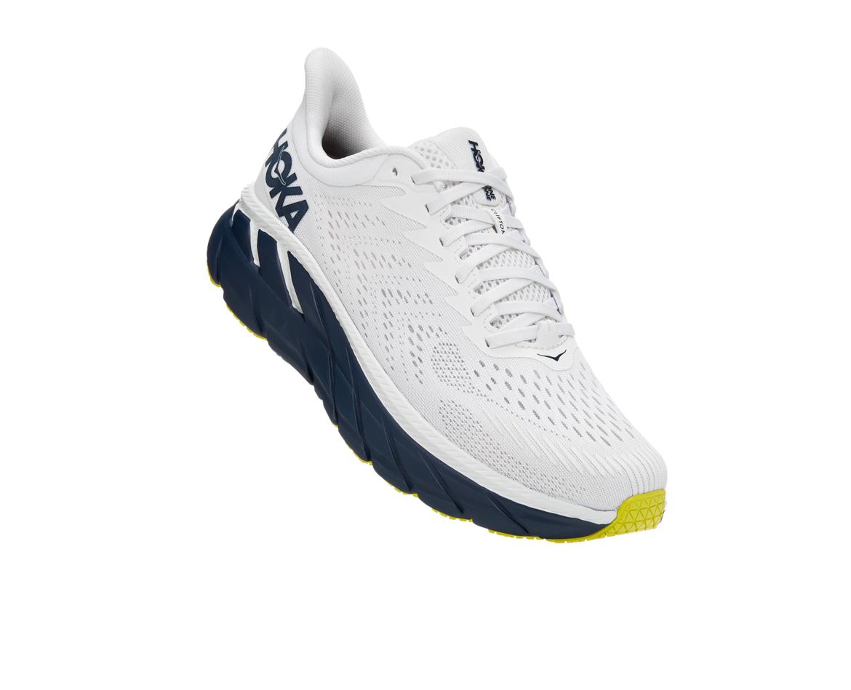 Hoka Clifton 7 - נעלי ספורט גברים הוקה קליפטון 7 בצבע לבן/שחור איריס #1