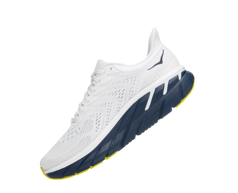 Hoka Clifton 7 - נעלי ספורט גברים הוקה קליפטון 7 בצבע לבן/שחור איריס #4