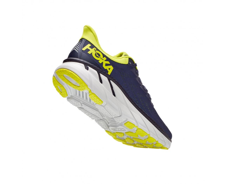 Hoka Clifton 7 - נעלי ספורט גברים הוקה קליפטון 7 בצבע כחול/לבן/צהוב #2