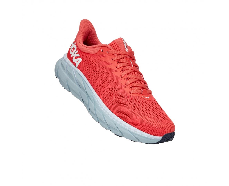 Hoka Clifton 7 - נעלי ספורט נשים הוקה קליפטון 7 בצבע כתום/לבן #1