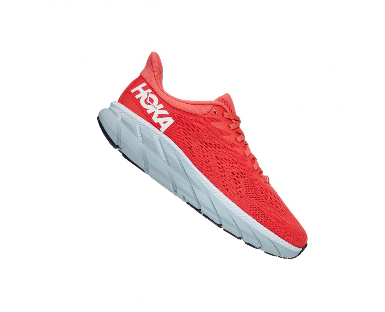 Hoka Clifton 7 - נעלי ספורט נשים הוקה קליפטון 7 בצבע כתום/לבן #3