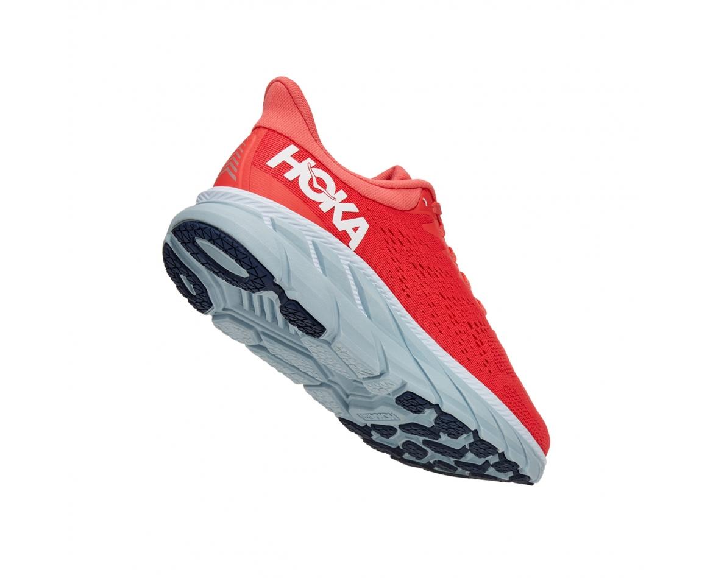 Hoka Clifton 7 - נעלי ספורט נשים הוקה קליפטון 7 בצבע כתום/לבן #2