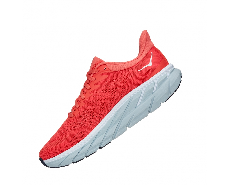 Hoka Clifton 7 - נעלי ספורט נשים הוקה קליפטון 7 בצבע כתום/לבן #4