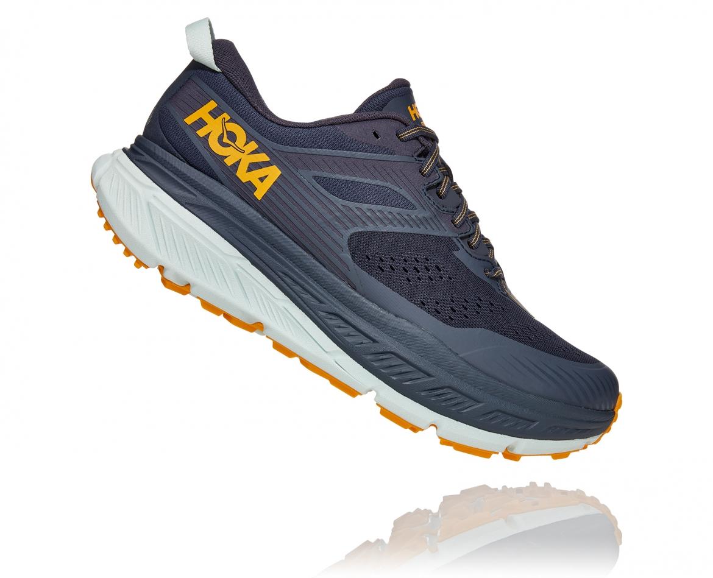 Hoka Stinson ATR 6 - נעלי ספורט גברים הוקה סטינסון אייטיאר בצבע כחול אומברה/כתום #3