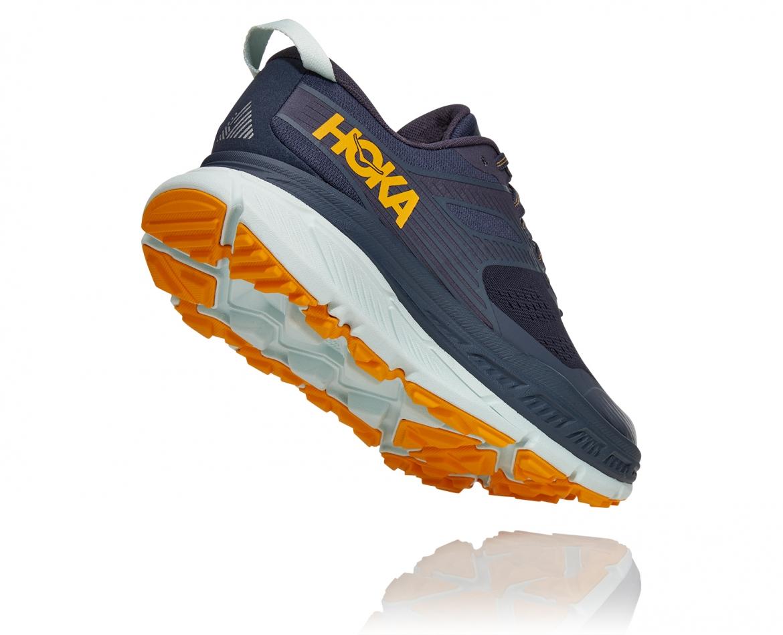 Hoka Stinson ATR 6 - נעלי ספורט גברים הוקה סטינסון אייטיאר בצבע כחול אומברה/כתום #2