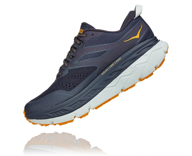 Hoka Stinson ATR 6 - נעלי ספורט גברים הוקה סטינסון אייטיאר בצבע כחול אומברה/כתום #4