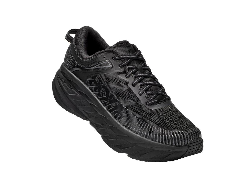 Hoka Bondi 7 Wide - נעלי ספורט גברים הוקה בונדי 7 רחבות בצבע שחור #1