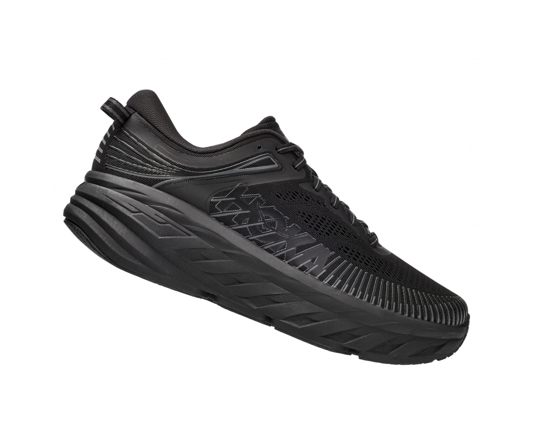 Hoka Bondi 7 Wide - נעלי ספורט גברים הוקה בונדי 7 רחבות בצבע שחור #3