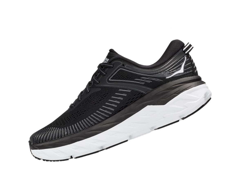Hoka Bondi 7 Wide - נעלי ספורט נשים הוקה בונדי 7 רחבות בצבע שחור/לבן #4