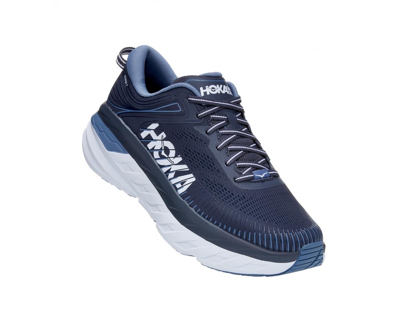 Hoka Bondi 7 - נעלי ספורט גברים הוקה בונדי 7 בצבע כחול אומברה/כחול #1