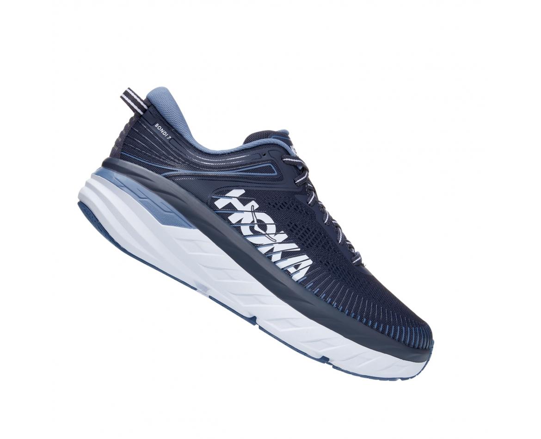 Hoka Bondi 7 - נעלי ספורט גברים הוקה בונדי 7 בצבע כחול אומברה/כחול #3