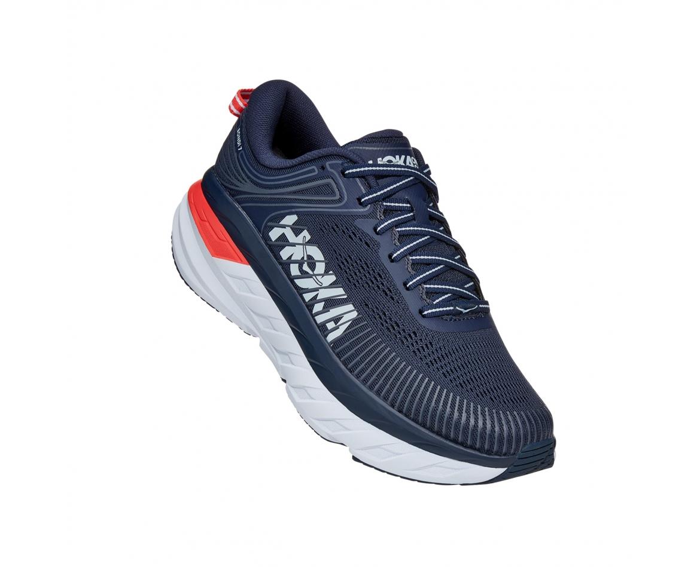 Hoka Bondi 7 - נעלי ספורט נשים הוקה בונדי 7 בצבע שחור איריס/כחול #1
