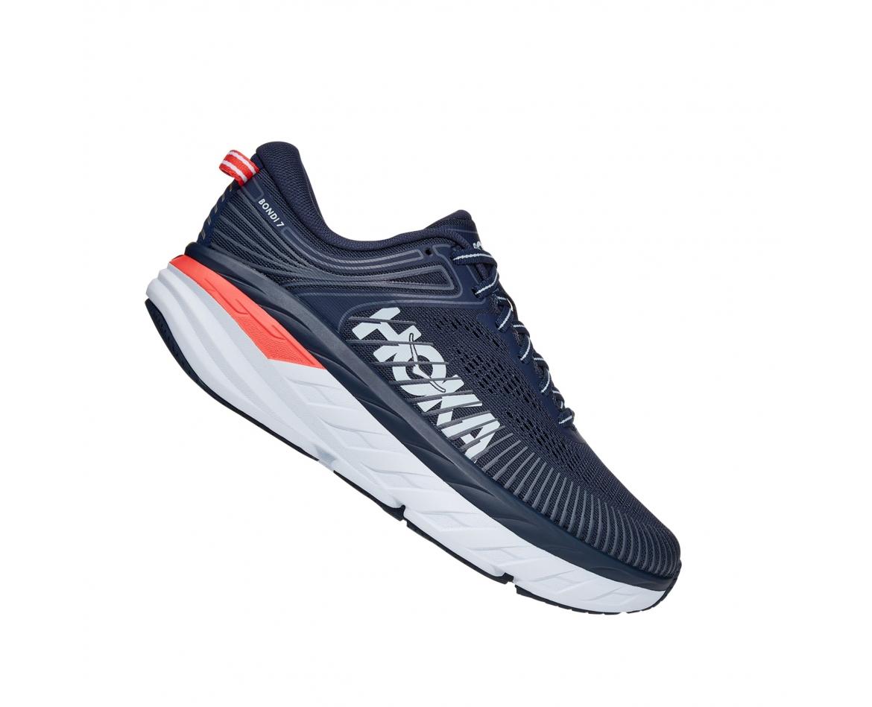 Hoka Bondi 7 - נעלי ספורט נשים הוקה בונדי 7 בצבע שחור איריס/כחול #3