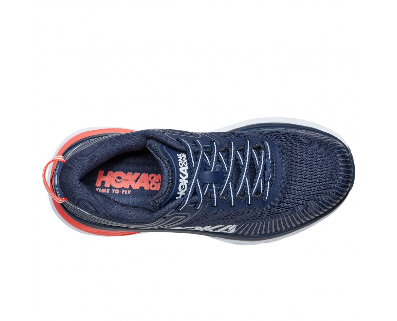 Hoka Bondi 7 - נעלי ספורט נשים הוקה בונדי 7 בצבע שחור איריס/כחול #6