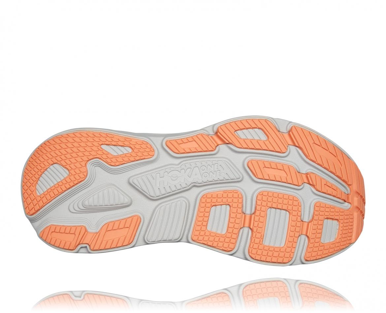 Hoka Bondi 7 - נעלי ספורט נשים הוקה בונדי 7 בצבע אפור/כתום בהיר #6