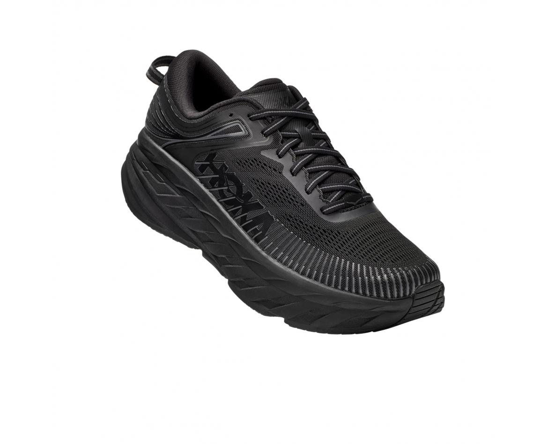 Hoka Bondi 7 X-Wide - X 7 נעלי ספורט גברים הוקה בונדי רחבות בצבע שחור #1