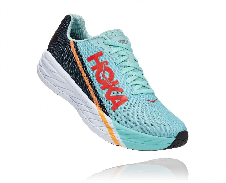 -Hoka Rocket X נעלי ספורט גברים/נשים הוקה רוקט איקס בצבע כחול דיוה/לבן/נייבי #1