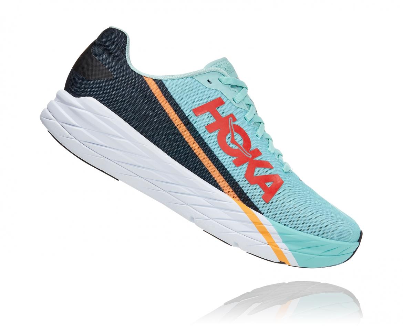 -Hoka Rocket X נעלי ספורט גברים/נשים הוקה רוקט איקס בצבע כחול דיוה/לבן/נייבי #3