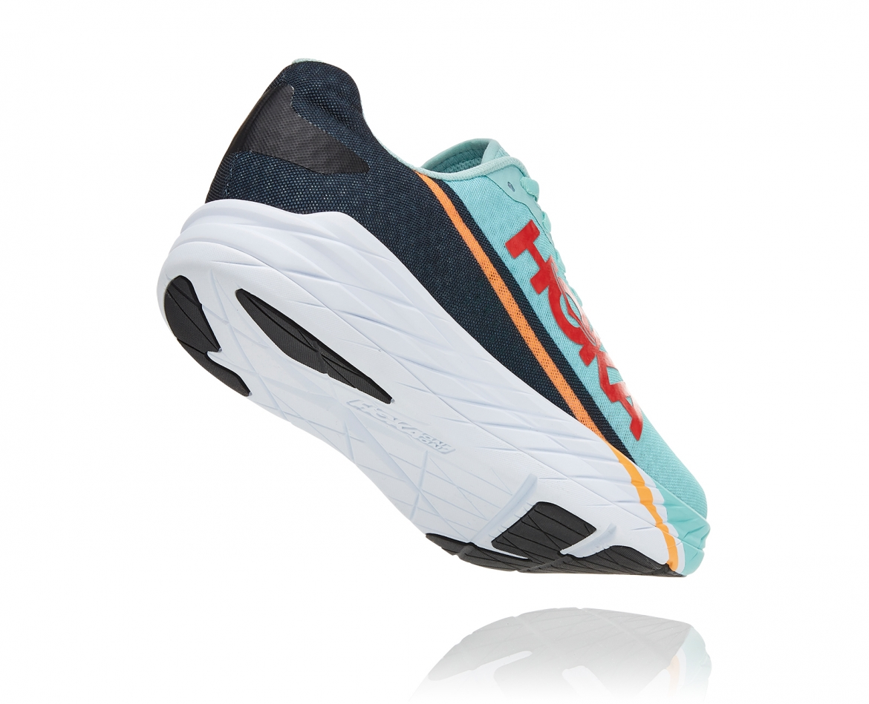 -Hoka Rocket X נעלי ספורט גברים/נשים הוקה רוקט איקס בצבע כחול דיוה/לבן/נייבי #2