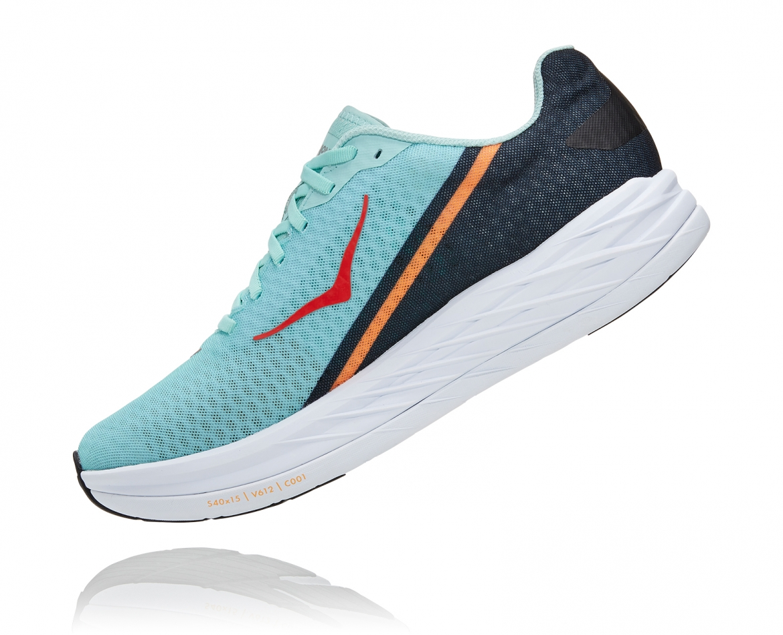 -Hoka Rocket X נעלי ספורט גברים/נשים הוקה רוקט איקס בצבע כחול דיוה/לבן/נייבי #4
