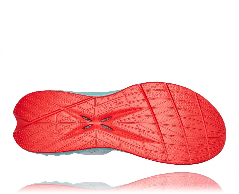 Hoka Carbon X2 - נעלי ספורט לנשים הוקה קרבון איקס 2 בצבע לבן/תכלת/כתום #6