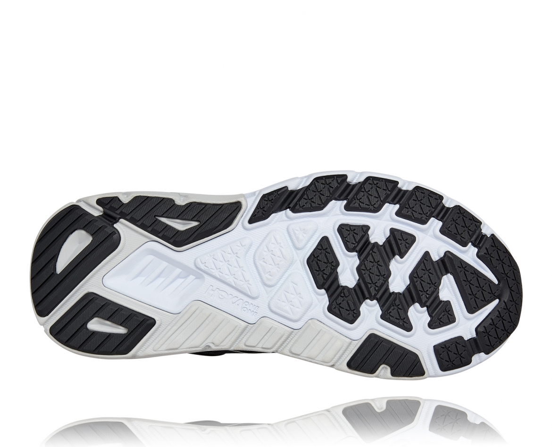 Hoka Arahi Wide 5 - נעלי ספורט נשים הוקה ארהי 5 רחבות בצבע שחור/לבן #6