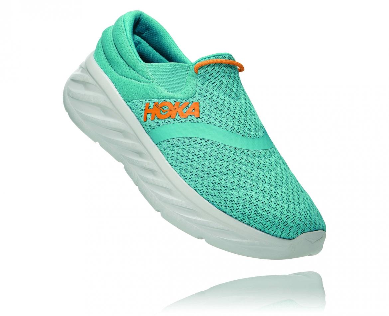 Hoka Ora Recovery Shoes 2 נעלי גרב גברים אורה 2 בצבע טורקיז/כתום – #1