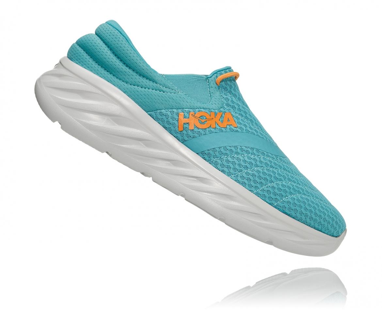 Hoka Ora Recovery Shoes 2 נעלי גרב גברים אורה 2 בצבע טורקיז/כתום – #3