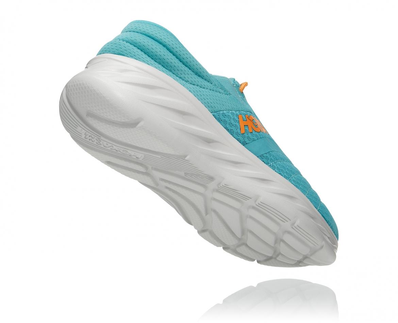 Hoka Ora Recovery Shoes 2 נעלי גרב גברים אורה 2 בצבע טורקיז/כתום – #2